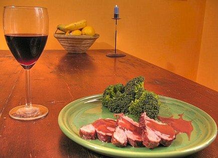 Filetto di maiale al vino rosso